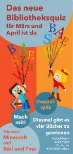 Doppel-Quiz in der Schulbücherei im März und April 2017