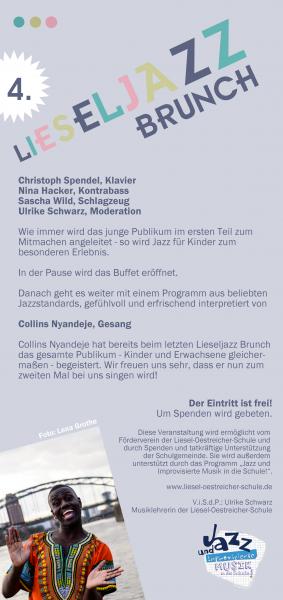 einladung zum liesel-jazz-brunch 2017 | liesel-oestreicher-schule, Einladung